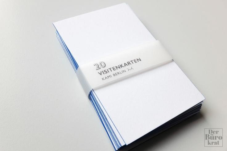 Review Kami Visitenkarten Blanko Blau Der Bürokrat